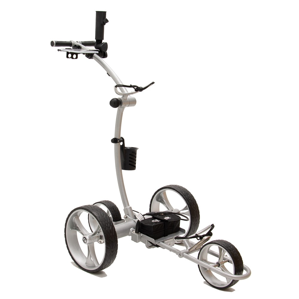 Best Selling and Value Cart Tek GRi-1500Li Silver Remote Controlled Golf Caddie. Front Side View