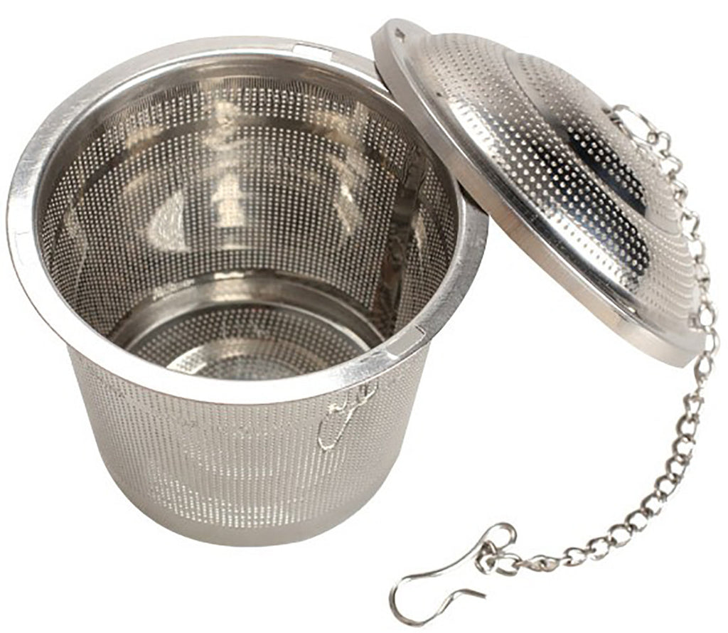 Schefs Tea Infuser Tea Strainer for Loose Leaf Tea - Stainless Steel Steeper - Single Cup Tea Ball Filter