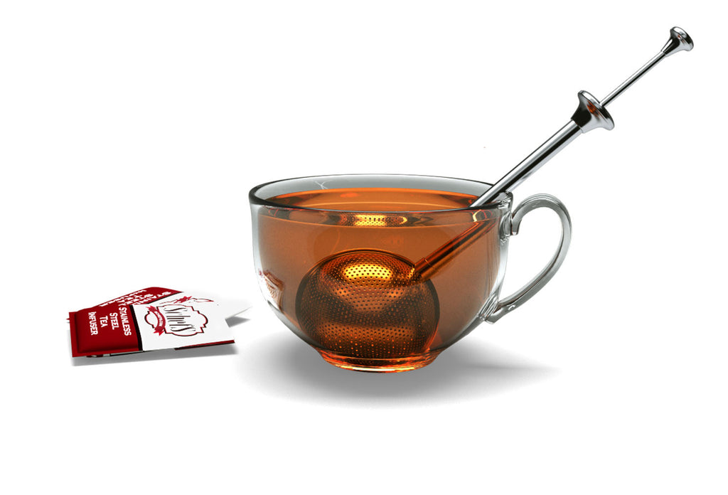 Premium Tea Infuser with Long Spoon Handle - Single Cup