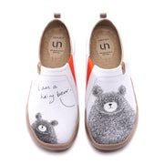 BE WITH YOU Frauen Canvas Kunst gemalte Schuhe