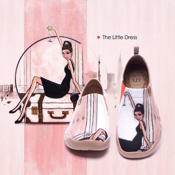 The Little Dress Frauen Kunst gemalte Schuhe