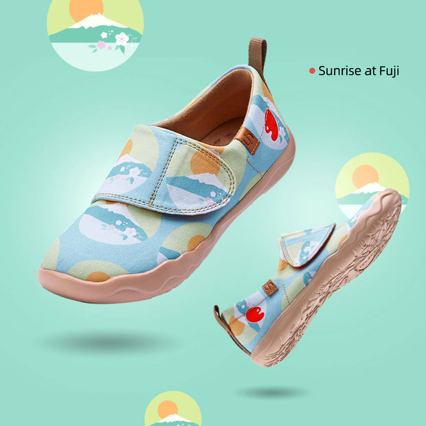 Sunrise at Fuji Kinder Kunst gemalt Leinwand Schuhe