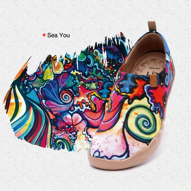 Sea You Frauen Kunst gemalte Schuhe