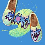Spray It Frauen Kunst gemalte Schuhe