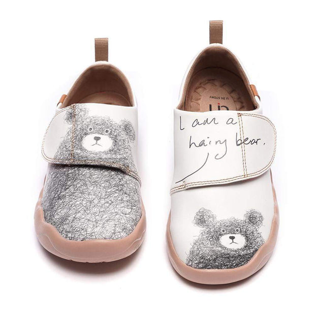 UIN Footwear Kid -Be with You- Cute Little Bear Kids Casual Shoes Canvas loafers