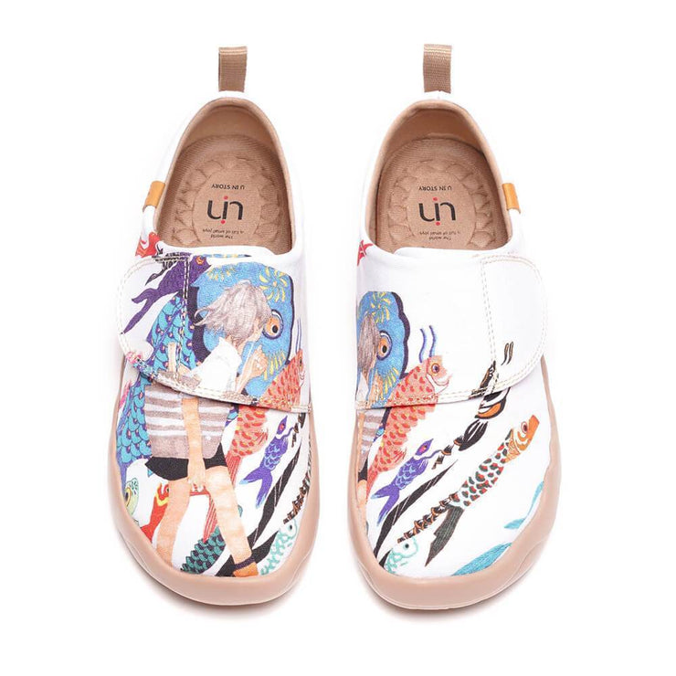 UIN Footwear Kid -Carp Windsocks- Art Design kids Fashion Shoes Canvas loafers