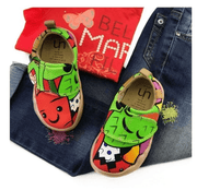 UIN Footwear Kid Carrot Canvas loafers