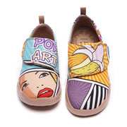 UIN Footwear Kid -Pop Art- Trendy Cartoon Design Painted Kids Shoes Canvas loafers