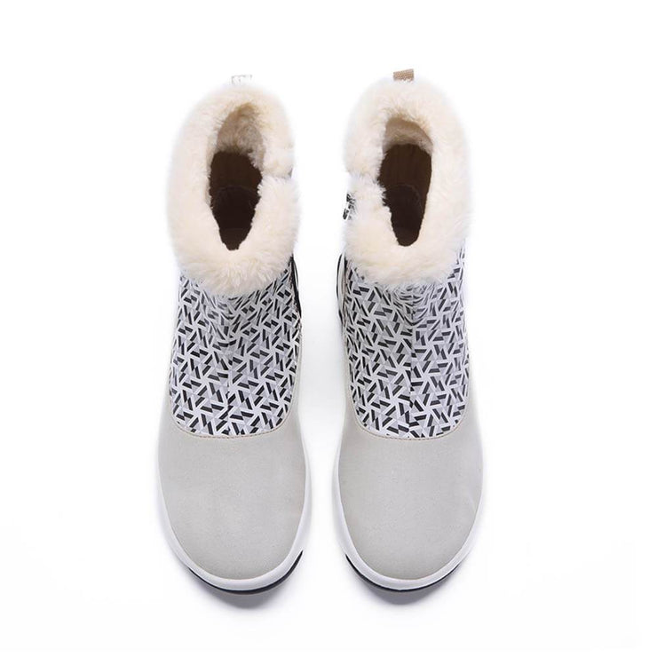 UIN Footwear Kid Rotterdam Boots White Kids Canvas loafers