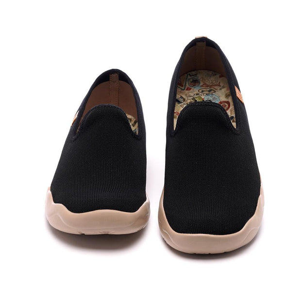 UIN Footwear Men Barcelona Knitted Black Canvas loafers