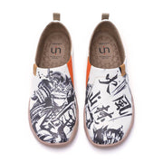 UIN Footwear Men -Fuurin Kazan Samurai- Art Painted Men Fashion Shoes Canvas loafers
