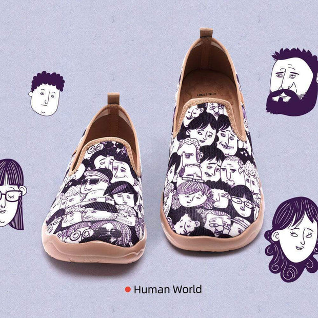 UIN Footwear Men Human World Canvas loafers