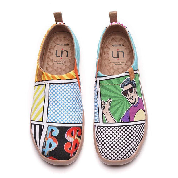 UIN Footwear Men -Pop Art- Men Canvas Slip-ons Canvas loafers