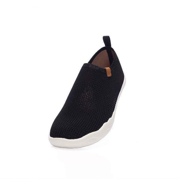 UIN Footwear Men Toledo-U KNIT Black Canvas loafers