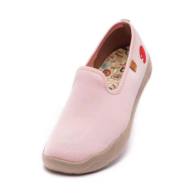 UIN Footwear Women Barcelona Knitted Pink Canvas loafers