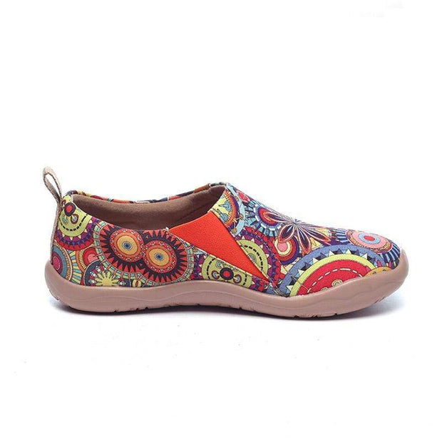 UIN Footwear Women Blossom Canvas loafers