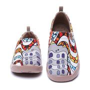UIN Footwear Women LA PEDRERA Canvas Art Painted Travel Shoes Canvas loafers
