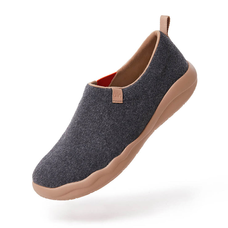 UIN Footwear Women (Pre-sale) Toledo II Deep Grey Wool Women Canvas loafers