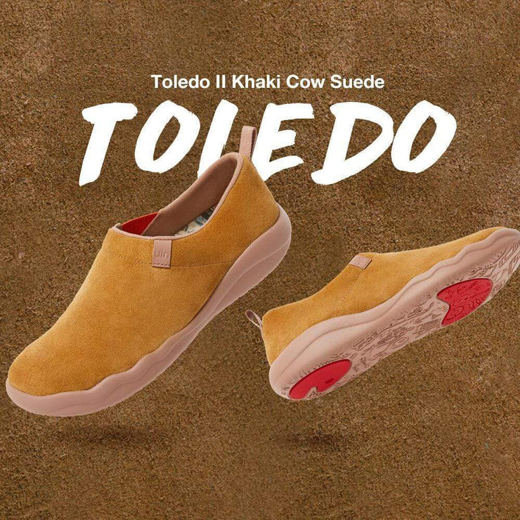 UIN Footwear Women (Pre-sale) Toledo II Khaki Cow Suede Women Canvas loafers