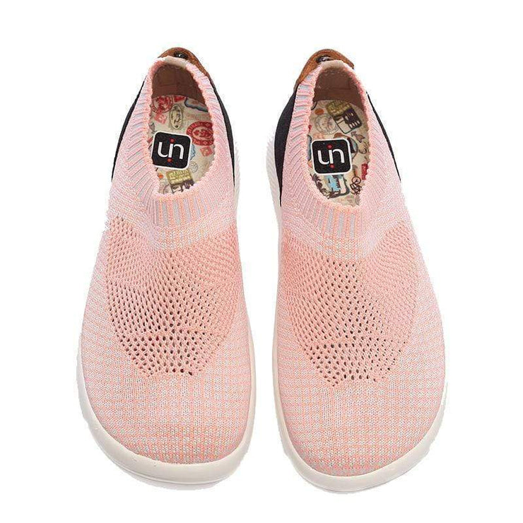 UIN Footwear Women Sicily Pink Canvas loafers