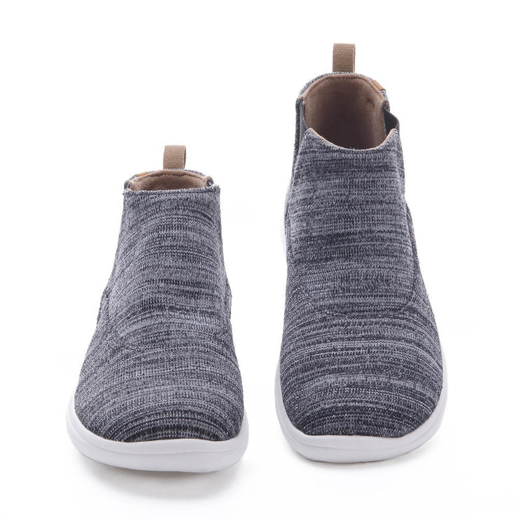 UIN Footwear Women Tengwu Grey Canvas loafers