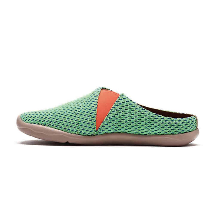UIN Footwear Women Zaanes Green Slipper Canvas loafers