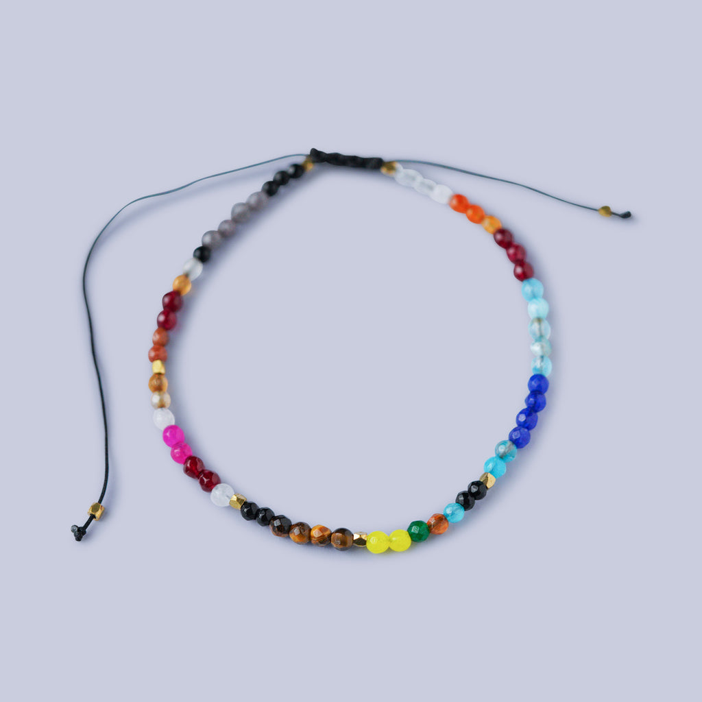 Multi-Coloured Cord Bracelet