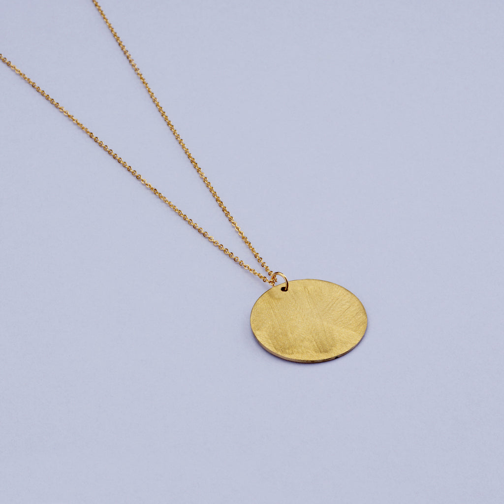 Brass Harvest Moon Necklace