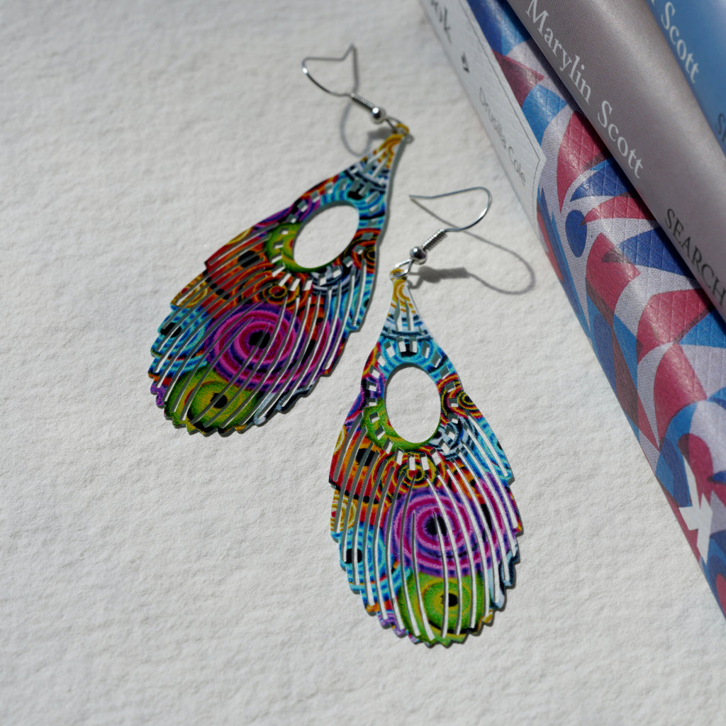 Swirl Coloured Earrings