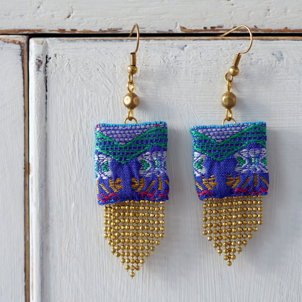 Tapestry & Bead Earrings