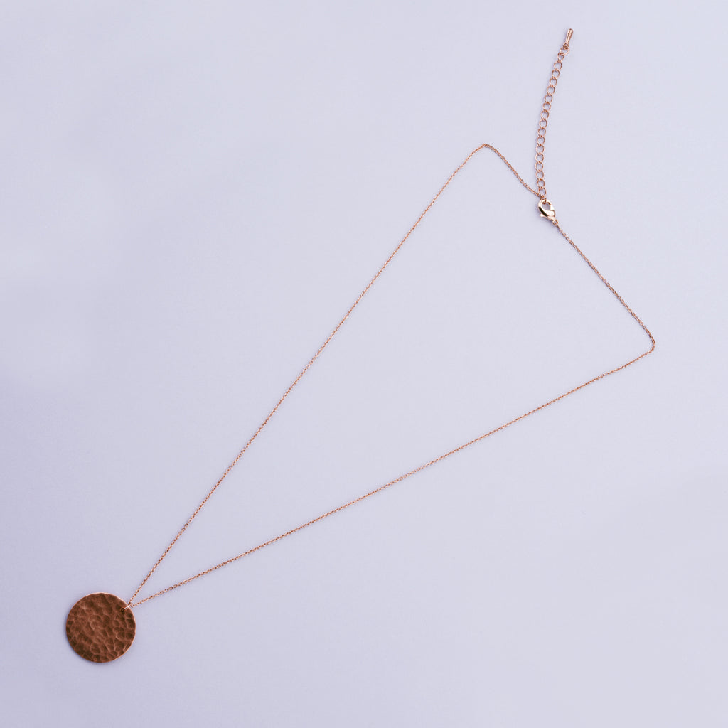 Copper Harvest Moon Necklace