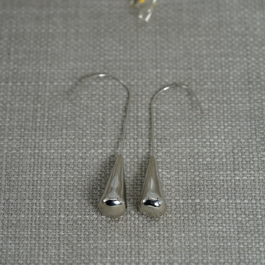 Pendulum Silver Drop Earrings