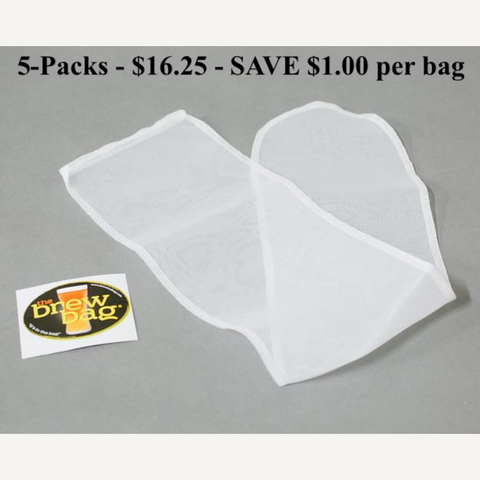 "Hop / Infusion Sock - 200 micron - 5 pack - $3.25 each - D = 3"" x H = 23"""