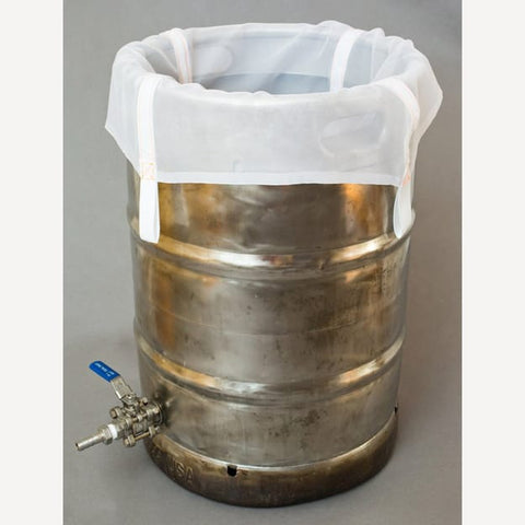 The Brew Bag® for Keggles - Designed for no sparge Brew In A Bag - Standard 200 or Recirculate 400 Micron + $16.50