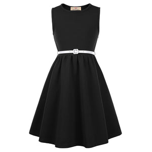 Grace Karin Skater Sleeveless Girls A-Line Dress