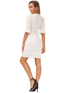Grace Karin Puffed Sleeve Bodycon