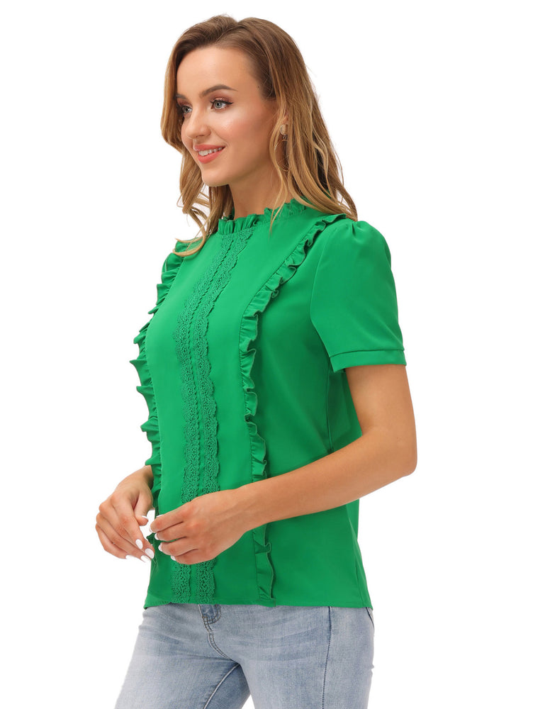 Grace Karin Ruffles Decorated Puffed Sleeves Tops