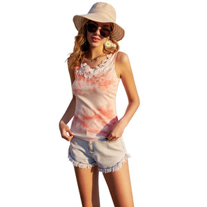 Grace Karin Lace Crochet Decorated Tank Top