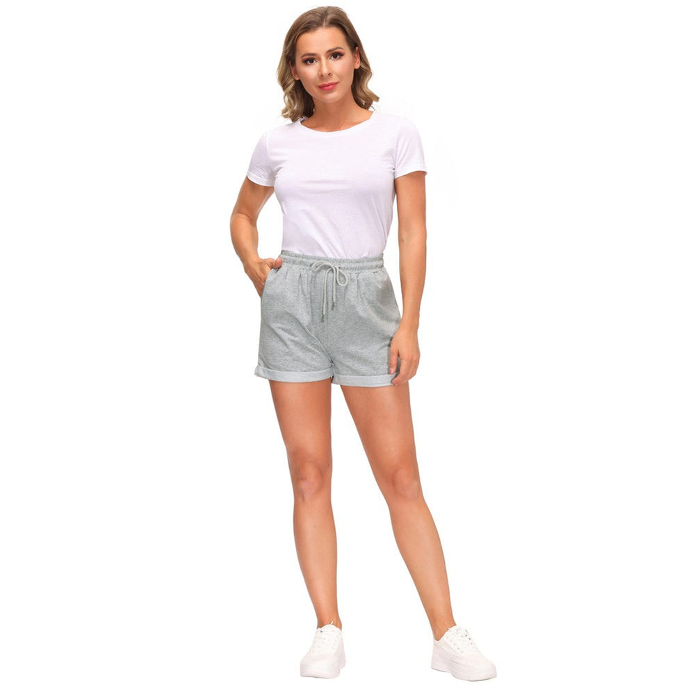 Load image into Gallery viewer, Grace Karin Women Drawstring Waist Casual  Fold-up Leg Opening Shorts