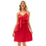 Grace Karin Ruffled Decorated Spaghetti Strap Dress