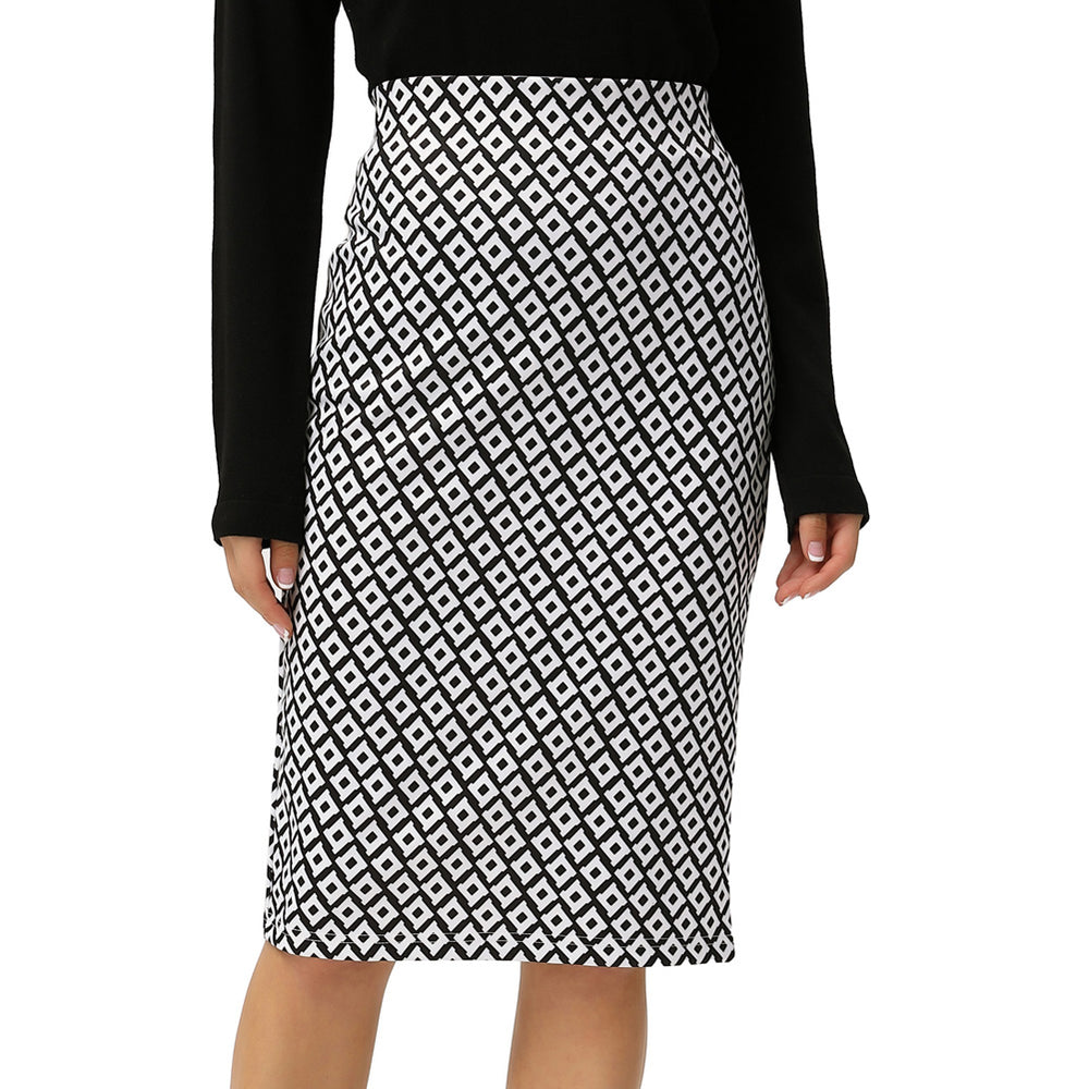 Grace Karin Diamond Check Hips-Wrapped Skirt
