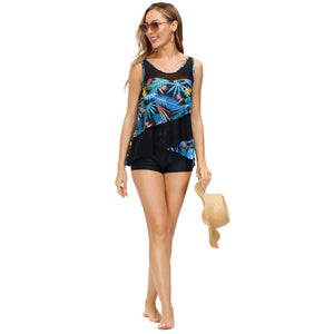 Load image into Gallery viewer, Grace Karin 2pcs Set Patchwork Swimsuit