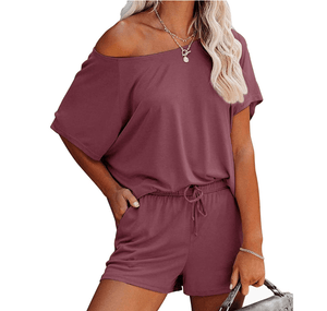 Load image into Gallery viewer, Grace Karin Women Cotton Costume Sleeve Crew Neck T-Shirt+Elastic  Shorts