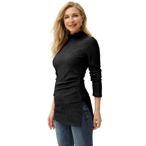 Load image into Gallery viewer, Grace Karin Ruffled High Neck Long Sleeve Tops