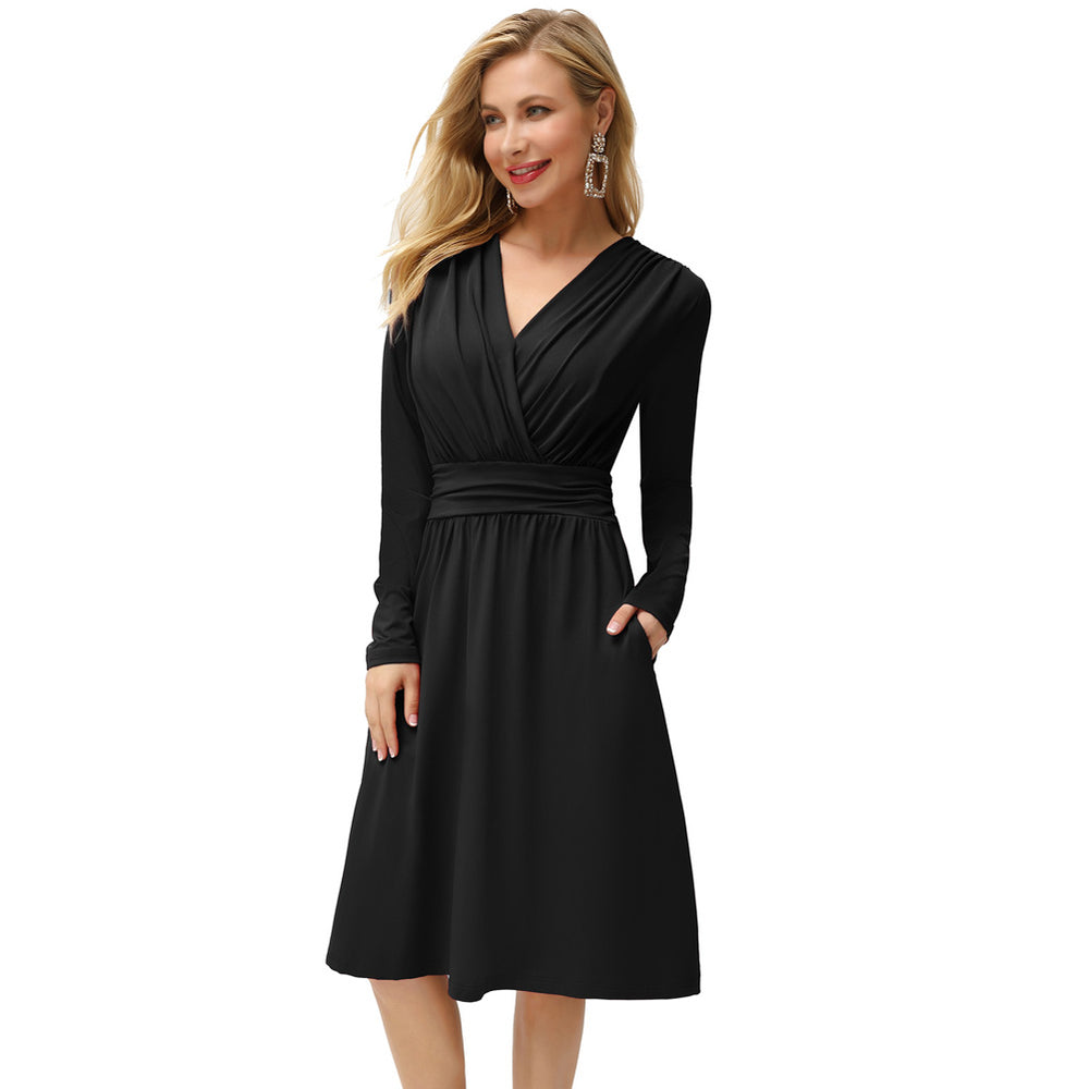 Grace Karin Long Sleeve A-Line Dress