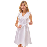 Grace Karin Flutter Sleeves Cotton A-Line Dress