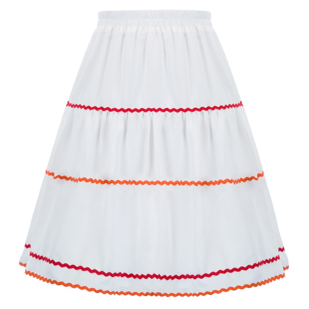 Grace Karin Braid Decorated A-Line Skirt