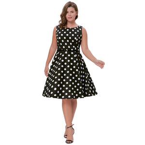 Grace Karin Plus Size Cotton Sleeveless Dress