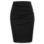 Grace Karin Ruched Front Pencil Skirt
