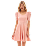Grace Karin Puffed Flared A-Line Dress